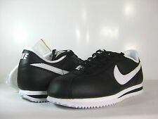 NIKE CORTEZ BASIC LEATHER Black/White -316418 012- ATHLETIC