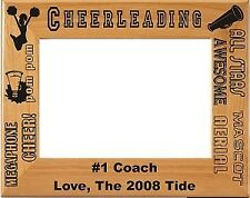 Personalized laser Engraved Cheerleading Picture Frame