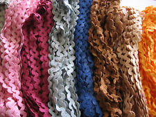 """Hand Dyed Cotton 1/2"""" Ric Rac,choice of color 5 yards"""