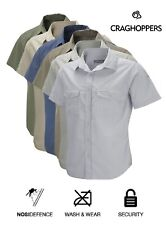 Craghoppers Mens Kiwi Short Sleeve Shirt Lightweight Travel Special Price £14.99