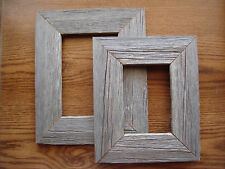 """RUSTIC"" WOOD PICTURE FRAME Reclaimed Barnwood NEW"