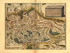 Reproduction Antique Suisse Old Map Switzerland Schweizer Swiss by Ortelius NEW