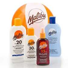 MALIBU SUNCREAM SUN LOTION 200ml PICK FACTOR - all types inc KIDS and ONCE DAILY