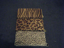 QUALITY FAUX FUR ANIMAL LEOPARD ZEBRA PRINT LADIES PURSE UK SELLER FREE UK P&P