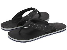 NEW Premium Oakley Black Nape Womens Leather Thong Flip Flops Sandals 6 7 8 9 10
