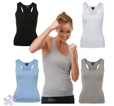 NEW Ladies Atheletic Sports Singlets Sz 8 - 16 Gym Tops
