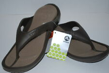 NEW NWT CROCS ATHENS 6 7 9 10 11 CHOCOLATE brown flip flops