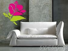 Rose Flower Wall Sticker Art Plant Mural Stickers Transfer Tree Leaves