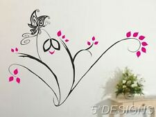 Corner Vines flowers Butterflies Wall Stickers Decal Art Decals Butterfly Plant