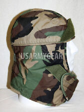US ARMY Military  Insulated Woodland Camouflage Helmet Liner Cap Hat Head Cover
