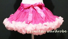 Hot Light Pink FULL Pettiskirt Skirt Petti Party Dance Tutu Dress Girl 1-8Y