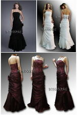 ONE OF A KIND! STRAPLESS FRILLED BEADED LONG FORMAL/EVENING/PROM/BALL GOWN