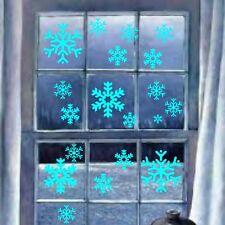 Snowflakes Xmas Christmas Snowflake Window Wall Art Stickers Decor Decorations