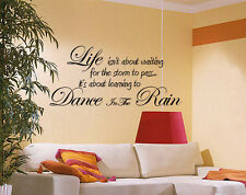 LARGE WALL ART STICKER VINYL DECAL GIANT QUOTE KITCHEN  LIVINGROOM BEDROOM HALL