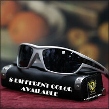 NEW KHAN SPORT MENS SUNGLASSES DRIVING BIKER MOTOCYCLING BLACK & MIRROR LENS
