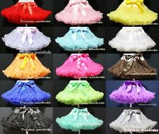 SOLID COLOR Multi-List Pettiskirt Skirt Petti Party Dance Tutu Dress Girl 1-8Y