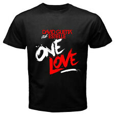 New David Guetta feat Estelle One Love Mens Black T-Shirt Size S - 3XL