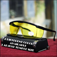NEW MENS SAFETY SHIELD SUNGLASSES WORK NIGHT DRIVING MOTOR BIKER SQUARE PROTECT