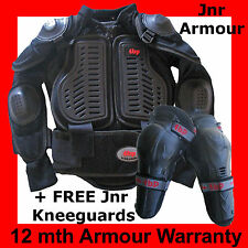 KIDS MOTOCROSS / BMX BODY ARMOUR (+free knee guards) All Junior Sizes from 2-16