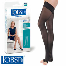 Womens UltraSheer Thigh Compression Stockings 20-30 mmhg Open Silicone Supports