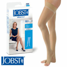 Womens UltraSheer Thigh Compression Stockings 15-20 mmhg Open Silicone Supports