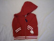 NWT Boy's Gymboree Pelican Catch red hoodie jacket ~ 3 6 12 months