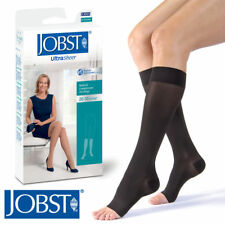 Petite Women UltraSheer Compression Knee Stockings 20-30 mmhg Open Toe Supports