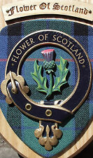 SCOT CRESTS: Scottish Gifts Clan Crested Wall Plaques Forsyth to Johnstone