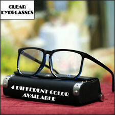 NEW MENS 70' 80' RETRO EYEGLASSES VINTAGE GEEK FASHION OVERSIZED 4 COLOR EYEWEAR