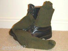 BRITISH ARMY SURPLUS ISSUE COMBAT SOCKS G1,WOOL BLEND,BLACK,GREEN-SAS/PARA/MOD