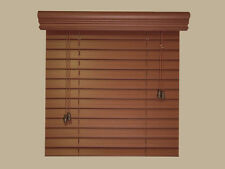 "2"" Fauxwood Window Blinds - 72"" x 36"" - Real Wood Look 4 Less - Free Shipping"