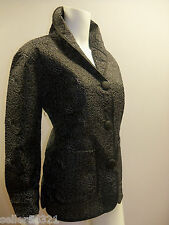 Donna Sharp Quilted Jacket/ Coat Black with White stitching patterns