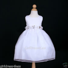 WHITE WEDDING PARTY RECITAL FAIRY FORMAL FLOWER GIRL DRESS 2/2T 3/4 5/6 7/8 9/10