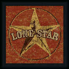 Lone Star I by Peter Horjus Western Sign 18x18 Framed Art Print Picture