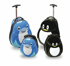 Skyflite Skykidz Dolphin, Penguin Character Trolley Suitcase and Rucksack New