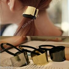 Fashion Trend Metallic Mirror Metal Ponytail Holders Hair Cuff Band Hot Sell
