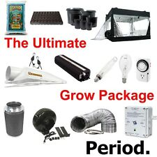 "COMPLETE 4 1000W 6"" Grow Set Up Tent+Soil+Pots+Hoods+Bulbs+Controller+Fan+Filter"