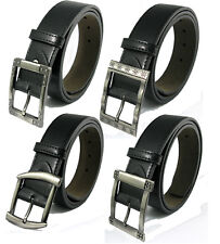 Free P&P Black/Brown Jeans Casual Metal Hole Buckle Artifical Leather Belt Mens