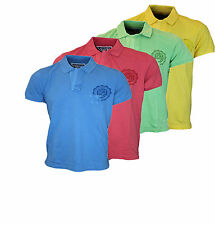 NEW MENS LOYALTY & FAITH 7S LEOPARD DESIGNER POLO NECK T-SHIRT TOP SIZES S-XXL