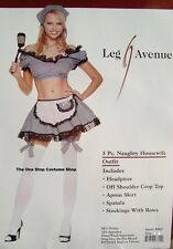 Adult Leg Avenue Sexy Naughty Housewife Fancy Dress Halloween Costume