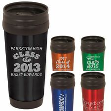 Personalized Coffee Travel Mugs Class of 2012, 2013,2014 Custom Graduation Gifts