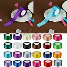 """1 Roll 25 Yards 1.5"""" 38mm Satin Ribbon Craft Bow Wedding Party Supply Colours"""