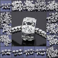 Fit Charms Bracelet Jewelry 18KGP Clip/Lock Stopper European Loose Spacer Beads