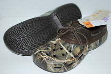 NEW NWT CROCS ISLANDER SPORT REALTREE chocolate / khaki boat shoes 8 10 11 mens