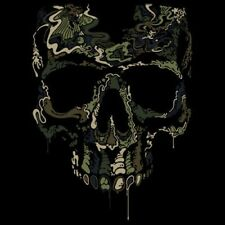 Cool Tshirt Special Ops Skull Camo Drip Military Hunting Commando War Soldier