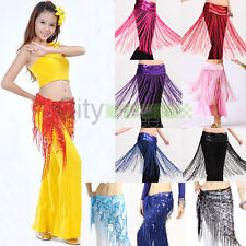 Charming Belly Dance Hip Skirt Scarf Wrap Belt Sequin Fringed / Silk Thread