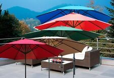 New Deluxe 13' 10' 9' 8' FT Outdoor Patio Market Beach Aluminum Crank Umbrella