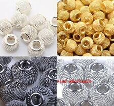 20pcs Basketball Wives Earrings Lots Spacer Mesh Beads 12mm You Pick Colour