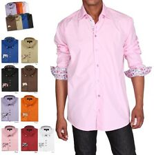 Men's Stylish George Fashion Solid Color Dress Shirt All Sizes and 9 Colors 610