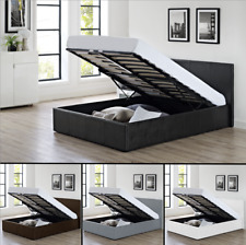 Storage Ottoman Bed With Mattress Option | Brown, Black Or White 5ft King Size